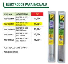 Cevik TEBLI1025INOX - BLíSTER 10 ELECTRODOS ALU 2,0 MM