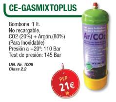 Cevik CEGASMIXTOPLUS - BOMBONA GAS ARGON COMPRIMIDO (NARANJA)